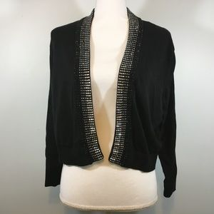 Calvin Klein Rhinestone Black XL Cardigan